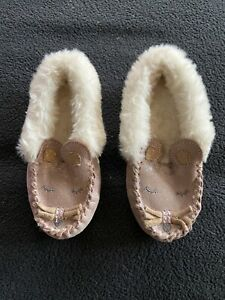 M&S KIDS MOCCASINS - SLIPPERS SIZE 5 (Eur 21.5)