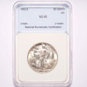 1942-S Walking Liberty Silver Half Dollar