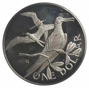 SILVER WORLD COIN 1973 British Virgin Islands 1 Dollar World Silver Coin *080