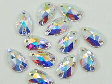 12 pcs. 12X7mm CRYSTAL AB PEAR SEW ON swarovski rhinestone