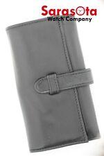 "Cartier Soft Calf Leather Black Pen Glasses Fold Over Holder 3.25"" x 5.75"""