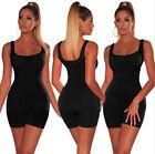 Womens Shorts Romper Jumpsuit Bodysuit Stretch Leotard Yoga Sportwear 12 Colors
