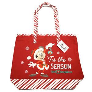 Walt Disney World Holiday Tote Tis The Season Mickey 2020 Candy Cane Christmas