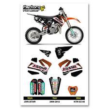 2006 - 2012  KTM SX 85 Dirt Bike Graphics kit Motocross Graphics Decal