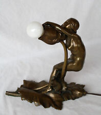 MAGNIFICENT ART NOUVEAU 1900 FRENCH BRONZE LAMP  MADE BY MAURICE  BOUVAL.  LA