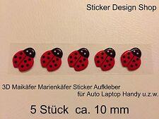 3D Maikäfer Marienkäfer Käfer Sticker Aufkleber Auto Laptop Handy Selbsklebend