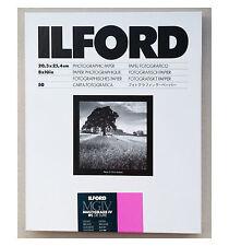 """Ilford Multigrado ivrc De Luxe Brillante Blanco Y Negro 10x8 """" (20,3 x25.4 cm) de 50 hojas"""