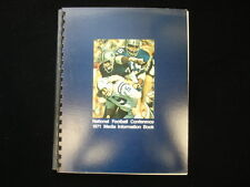 1971 National Football Conference Media Guidebook EX-NM