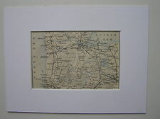 Antique map ,carte Amsterdam,Zuiderzee Netherlands 1897 / free passepartout