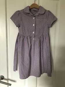 3 X John Lewis Gingham School Dresses, Age 5, 6 And 7 Years