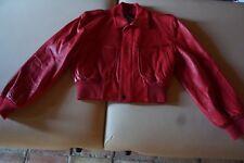Original Michael Hoban North Beach Leather Vintage Women Red Jacket size 7/8