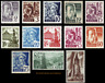 EBS Germany 1947 - French Occupation Zone - Baden - Michel 1-13 MNH**