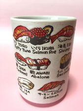 Japan Sushi Tea cup Yunomi Tsukiji kanji Souvenir Pen stand FS Quick delivery