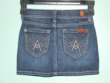 Girls A Pocket Seven For All Mankind  Skirt sz 6X Whiskered Distressed Cute!