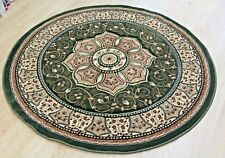 Traditional Persian DESIGN ROUND RUG COLOUR GREEN SIZE150x150cm NOW ON SALE