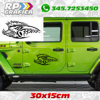 Kit 2 adesivi chinghiale off road JEEP 4x4 fuoristrada stickers tuning