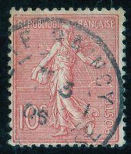 TIMBRE DE FRANCE OBL.  N° 129   SEMEUSE LIGNEE 10c ROSE 1903