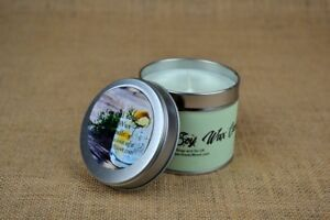 HANDMADE SOY WAX CANDLE - GIN AND TONIC IN A 250ML TIN