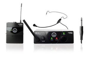 AKG WMS 40 Mini Ism 1 Sport Headset Funkset Funkmikro Funk Mikrofon Sender