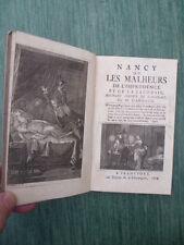 Baculard d'ARNAUD - Nancy / les malheurs de l'imprudence et de la jalousie -1768