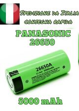 Batteria 26650 PANASONIC Ricaricabile a Litio Batterie 5000 mAh 3.7v Pila
