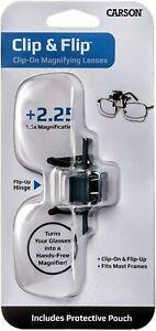 Carson Clip and Flip loupe pour lunettes avec fonction de serrage,...