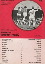 1975/76 LEAGUE DIV.4 - WORKINGTON v NEWPORT COUNTY 23RD AUGUST 1975