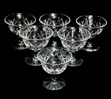Vintage Webb & Corbett cut crystal set of 6 sorbet cups glasses