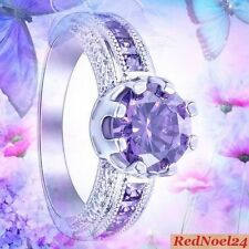 Silver Plated Amethyst Fine Rings