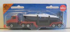 SIKU 1613 Miniature LOW LOADER 15cm Long + BOAT 10cm - Diecast & Plastic Parts