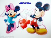 NEW DISNEY MICKEY MOUSE MINNIE L WALL ROOM STICKER BIRTHDAY DECAL GIFT 85X53cm