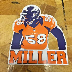 MILLER Von Miller Denver Broncos Championship Orange Fan sticker decals