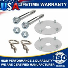 1016 Steel Silver Chrome Mount Hood And Deck Pin Pins Lock Clip Kit Universal US