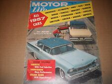 Motor Life Magazine December 1956 - NEW CAR ISSUE - All Of The New 1957 Cars