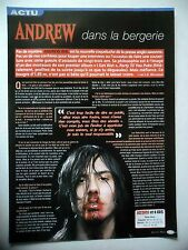 COUPURE DE PRESSE-CLIPPING : ANDREW W.K.  02/2002 Interview,I Get Wet