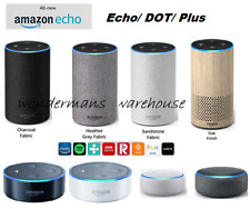 Amazon Echo Alexa Speakers - Charcoal/Sandstone/Heather/Oak/Plus/Dot White - New