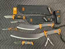 Bear Grylls Parang and knife lot. New out of box