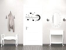 Türaufkleber Muro Tatuaggio Porta verdetto di decorazione camera da letto LUNA STELLE grazioso
