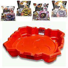 Beyblade Stadium Set 4 Metal Master Beyblades w/ Launchers + Durable Red Stadium