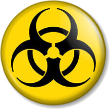 "BIOHAZARD 25mm 1"" Pin Button Badge Zombie Symbol Sign Cool Emo Geek Toxic Nerd"