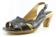 Softspots Size 9.5 W Black Slingback Leather Women Sandal Shoes