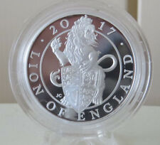 2017 THE Queen's Beasts The Lion Of England 1 Oz Silver Proof  Coin Royal Mint