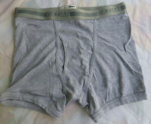 Gildan Mens Boxer Brief Size Med 32-34 Light Gray New without Tags   100% Cotton
