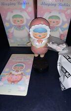 NeW PUCKY x Pop Mart SLEEPING BABIES * DOLLY w BUNNY * Vinyl Mini Figure RaRe