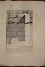 Piranesi stampa antica Mura Ustrino Appia Roma old print kupferstich 1756