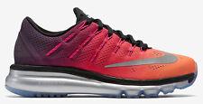 Nike pour femmes Air Max 2016 PRM CHAUSSURES POINTURE 12 Noir Argent Rose Orange
