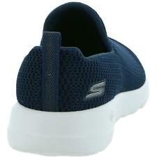 Skechers Womens Go Walk Joy Navy Slip On Sneakers Shoes 8 Wide (C,D,W) BHFO 4700