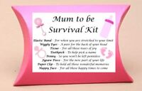 Mum to Be Gift Baby Shower **CONTENTS INCLUDED** New Mum Survival Kit Gift Box