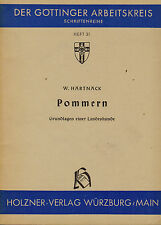 Hartung, Pommern Grundlage Landeskunde, Pomorze, Göttinger Arbeitskreis 31, 1959