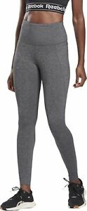 Reebok Lux High Rise 2.0 Womens Training Tights Grey Gym Workout Exercise Tight